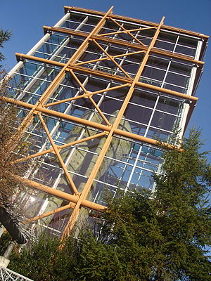 Rock climbing tower, REI Flagship Store design...