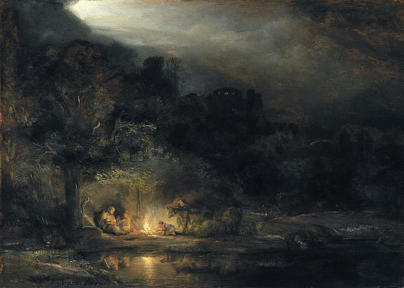 File:Rembrandt van Rijn, Landscape with the Rest on the Flight into Egypt.jpg