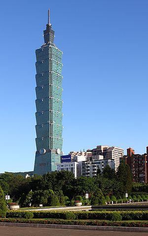 Taipei 101 as seen from Sun Yat-sen Memorial H...