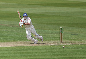 Andrew Strauss batting against Bangladesh at Lords