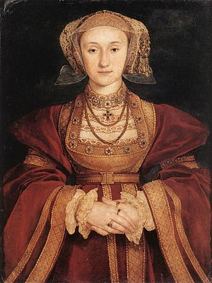 Painting of Anne of Cleves, fourth wife of the...