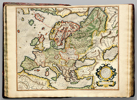 Cartography of Europe   Wikiwand Gerardus Mercator s map of Europe  printed in 1596
