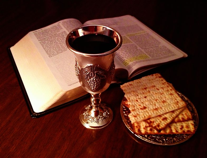 Lord's cup and bread and bible