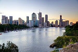 English: Brisbane as seen from Kangaroo Point.