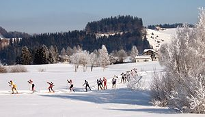 Cross-country skiing on Schwedentritt loppet, ...