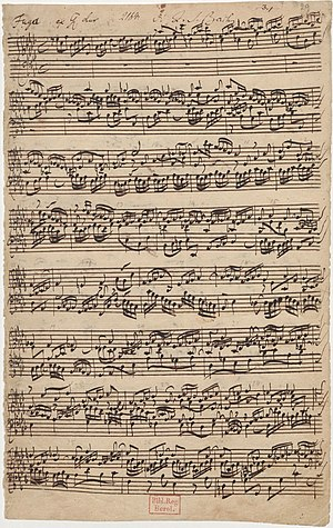 A flat major (As-dur) fugue from the second pa...