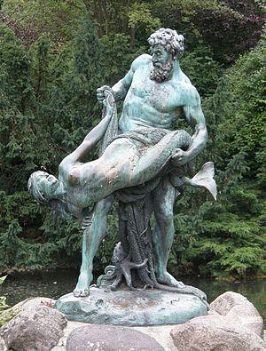 Ernst Herter: Der seltene Fang. 1896, Bronze. ...