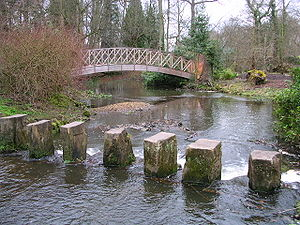 Stepping stones at Harwood House, Leeds, England.