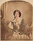 Isabella Beeton, um 1854. Diese handkolorierte Fotografie wurde 1932 in die National Portrait Gallery aufgenommen.