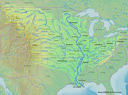 Bản đồ chi tiết các phụ lưu sông Mississippi