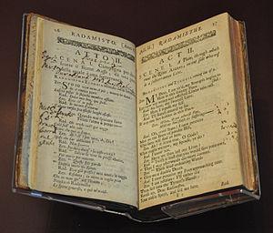 Prompt book for Handel's opera Radamisto, King...