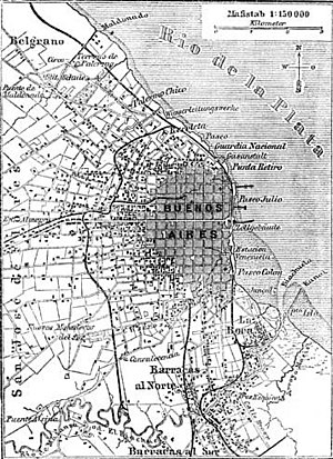 1888 German map of Buenos Aires