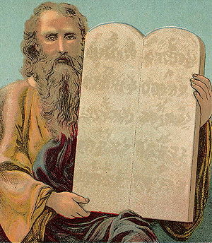 English: The Ten Commandments, illustration fr...