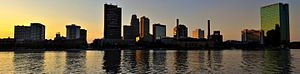 English: Panoramic skyline of Toledo, Ohio at ...