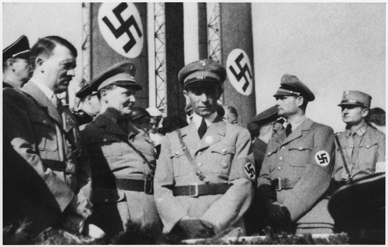 Some of the bad guys from World War II: Hitler, Goering, Goebbels & Hess.
