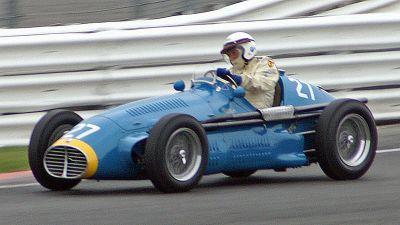 Prince Bira, driving a Maserati in 1953