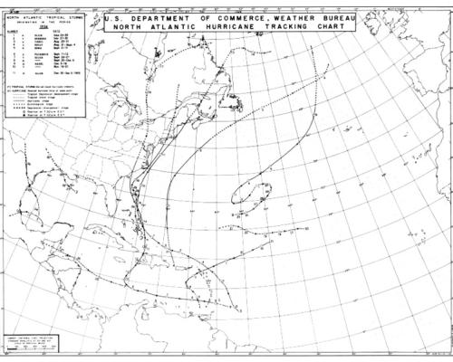 File:1954 Atlantic hurricane season map.png