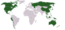 Location of The Asia-Pacific Economic Cooperation