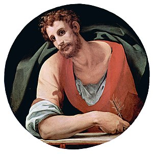 Mark the Evangelist, by Bronzino, fresco 1525–...