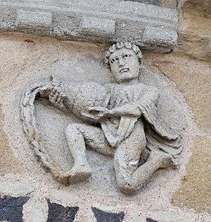 English: Aquarius: One of the twelve decorativ...
