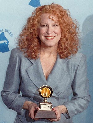 Photo of Bette Midler backstage at the Grammy ...