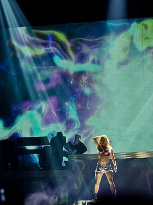 "English: Britney Spears performing ""Woman..."