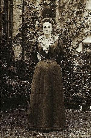 Clara Zetkin during a congress in Zurich 1897