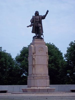 "Statue of ""Christopher Columbus"" fir..."