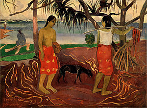 English: I Raro te Oviri, by Paul Gauguin. Cur...