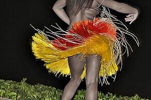 dancer, tan renga, leaves rustling, performance, entertainment, november