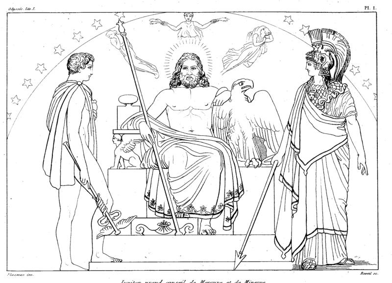 Bogowie olimpijscy – Hermes, Zeus i Atena