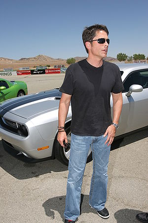Rob Lowe with Challenger