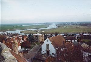 View from the tower of St Mary's church, Rye, ...
