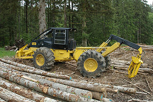 Morgan SX-704 grapple skidder – a modern skidd...