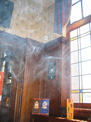 Tobacco smoke in an Irish pub before a smoking...