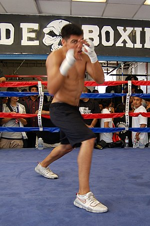 Victor Ortiz media workout on June 24, 2009 at...