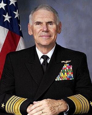 English: Admiral William J. Fallon, USN, Comma...