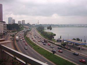 Freeway in the centre of Abidjan