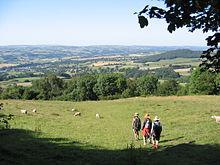 Offa's Dyke Path vor Hay-on-Wye