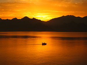 Sunset at Antalya.