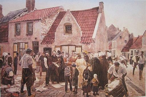 Blankenberge vismarkt-Skarbina 1886