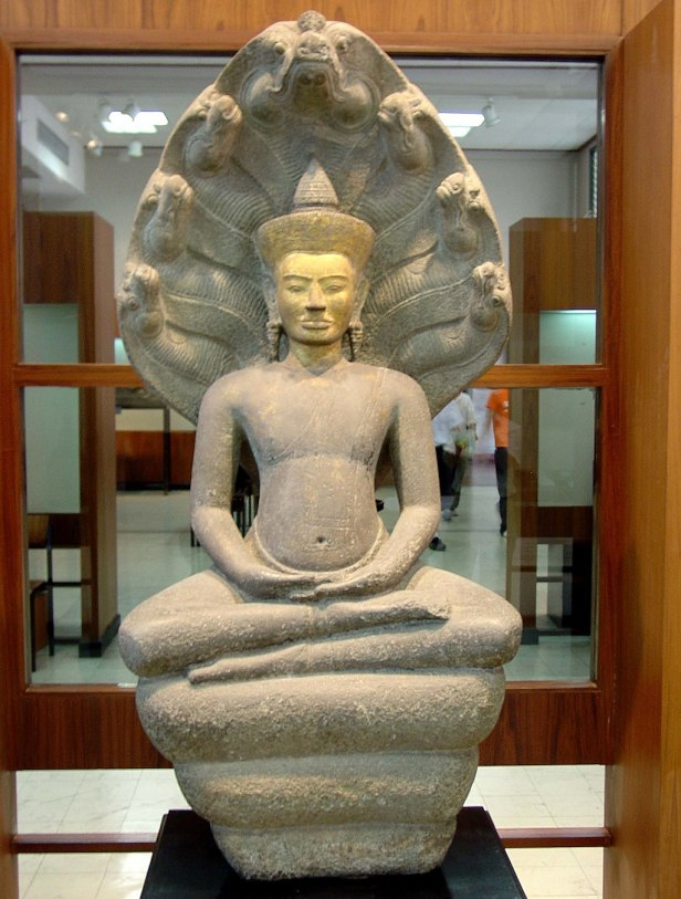 Buddha Protected by Mucalinda. Bangkok National Museum, b075