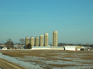 English: A farm in Fond du Lac County, Wiscons...