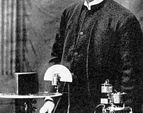 Jagadish Chandra Bose in his lab