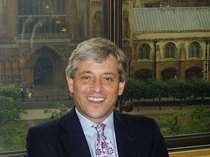 English: A photo of John Bercow, Speaker of th...
