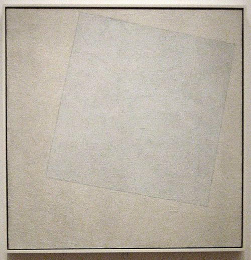 Kazimir Malevich - 'Suprematist Composition- White on White', oil on canvas, 1918, Museum of Modern Art