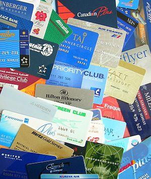 English: Different customer loyality cards (ai...