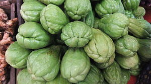 English: Chayote Bahasa Indonesia: Labu siam 日...