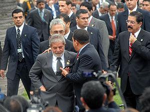 Santiago (Chile) - Presidentes Lula, Hugo Cháv...