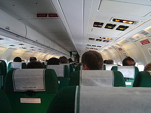 Interior of Douglas DC-9 (MD-82), Alitalia (I-...